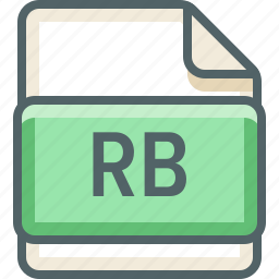 basic, data, extension, file, format, rb, type icon