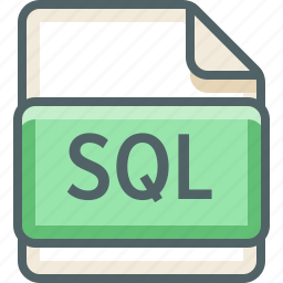 basic, data, extension, file, format, sql, type icon