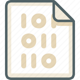binary, data, database, extension, file, format, type icon
