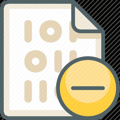 binary, cancel, close, delete, extension, file, remove icon