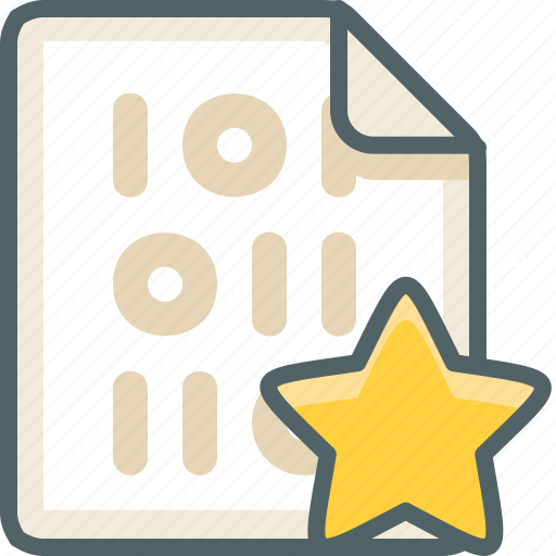 binary, bookmark, favorite, file, format, like, star icon