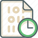 binary, clock, extension, file, format, time, timmer icon