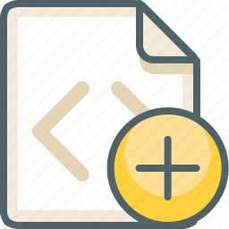 add, code, create, extension, file, new, plus icon