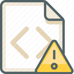 alert, caution, code, damage, extension, file, help icon