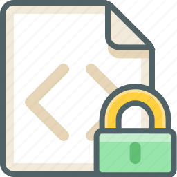 code, file, lock, protection, safety, secure, security icon