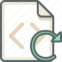 reload, code, file, sync, extension, format icon