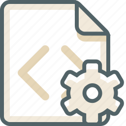 code, file, gear, options, preferences, setting, settings icon