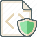 code, extension, file, protection, safety, security, shield icon