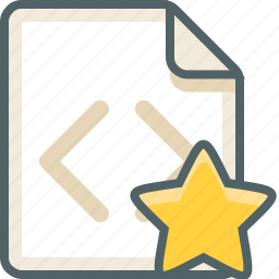 bookmark, code, extension, favorite, file, like, star icon