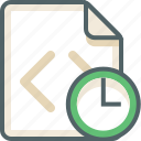 clock, code, extension, file, time, timer, watch icon