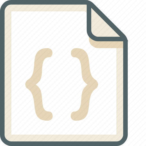 code, data, extension, file, format, type icon