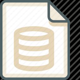 data, database, extension, file, format, server, storage icon