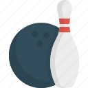 bowling, game, sport, strike