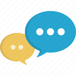 chat, comment, dialog, forum, message, speaking icon