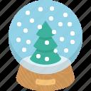 glass, snowball, winter