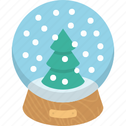 glass, snowball, winter icon