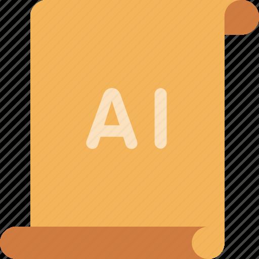 adobe, file, illustrator icon