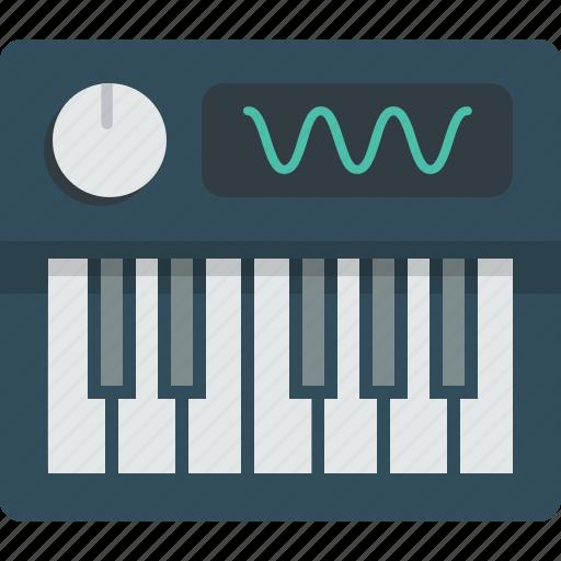 keys, piano, piano key, synthesizer icon