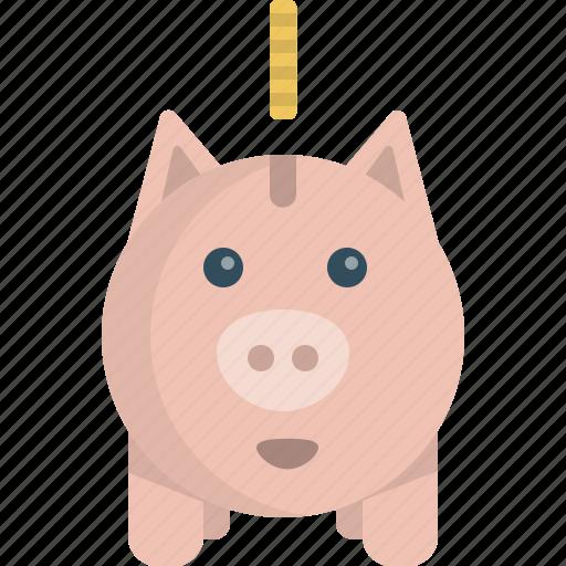 cash, coin, pig, saving icon