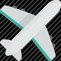 aeroplane, flight, fly, plane, transportation, travel icon