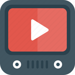 tv, video, youtube icon