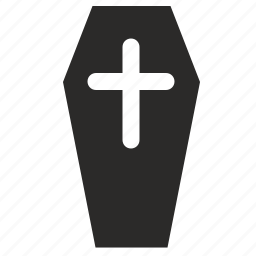 casket, coffin, cross, death icon