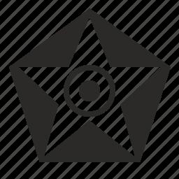 devil, diablo, eye, hell, pentagon, star icon