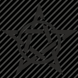 antichrist, hell, pentagram, pentagramm, sign, star icon
