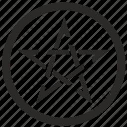 hell, pentagram, pentagramm, star icon