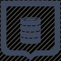 bank, data, info, shield, storage icon
