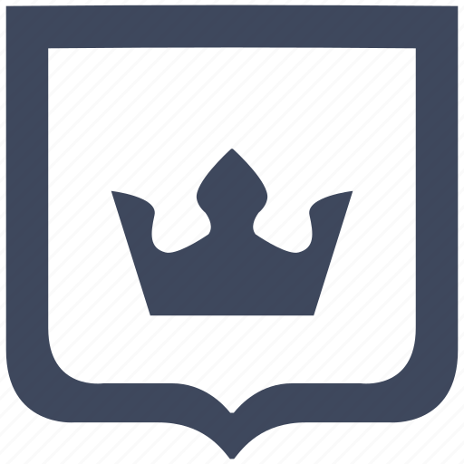 crown, king, royal, shield icon