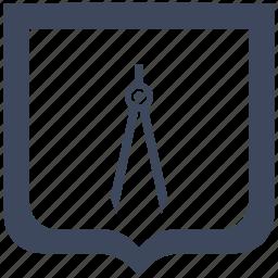 architector, divider, instrument, shield icon