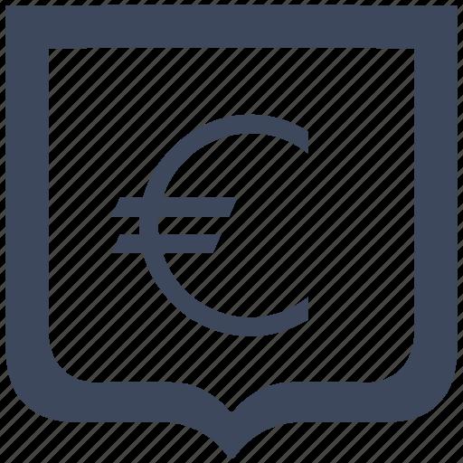 cash, euro, money, shield icon