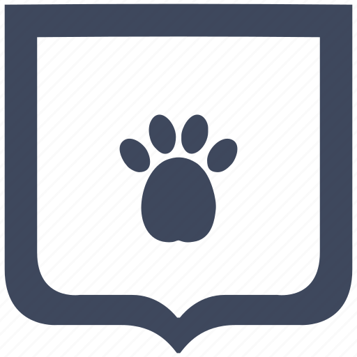 dog, footstep, puppy, shield icon
