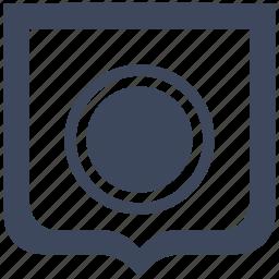 chart, diagramm, economic, full, pie, shield icon