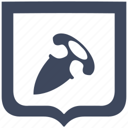 blade, hand, knife, shield, tactic icon