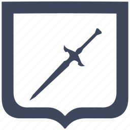 blade, knife, shield, sword, weapon icon