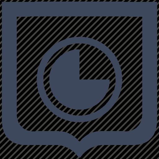 chart, economic, part, shield icon