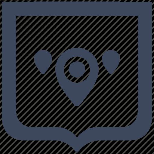 geo, map, pointer, region, shield icon