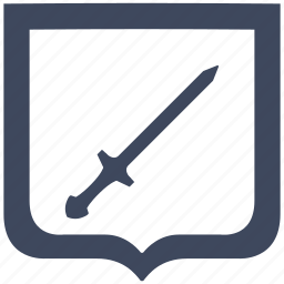 blade, cold, shield, sword, weapon icon