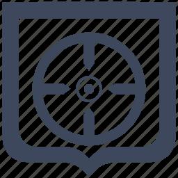 aim, shield, shoot, target icon