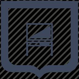 monitor, plazma, set, shield, table, tv icon