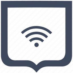 connect, free, internet, shield, wifi icon