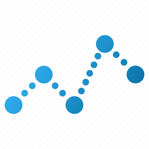diagram, dotted chart, graph, points, statistic, statistics, trend icon