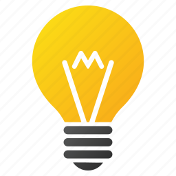 bulb, electrical lamp, electricity, energy, hint, idea, lightbulb icon