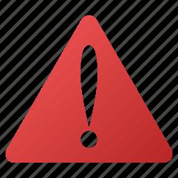 accident, alarm, alert, attention, danger, error, warning icon