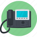 call, communication, conection, contact, flat design, round, telephone icon