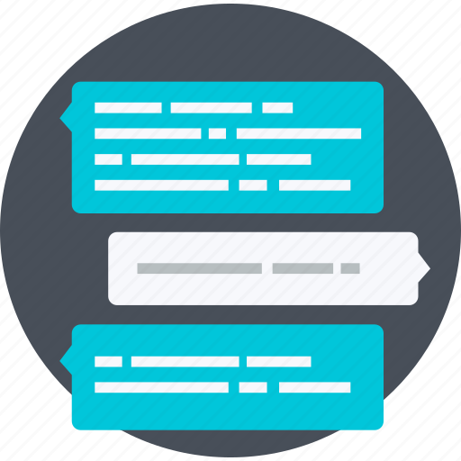 blog, chat, communication, discussion, flat design, message, social media icon