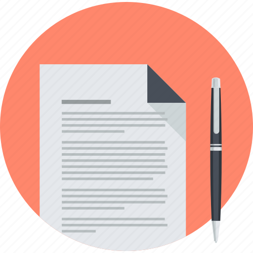 business, contract, document, office, round, stationary icon
