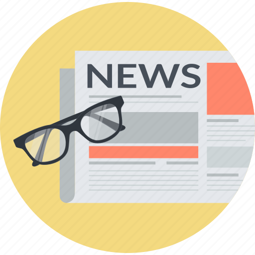 business, event, flat design, information, news, newsletter, round icon